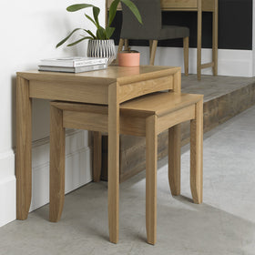 Bentley Designs Bergen Oak Nest of Lamp Tables | Taylors on the High Street