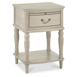 Bentley Designs Bordeaux Chalk Oak 1 Drawer Nightstand | Taylors on the High Street
