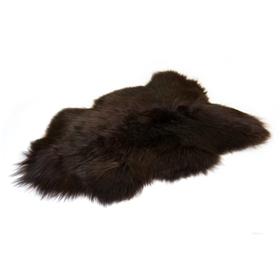 Bowron Icelandic Dark Brown Sheepskin Rug | Taylors on the High Street