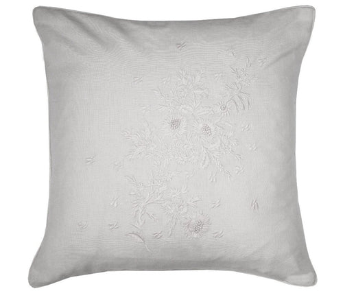 Cabbages and Roses Floral Embroidery Cushion | Taylors on the High Street