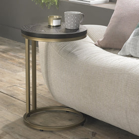 Bentley Designs Chevron Peppercorn Ash Sofa Table | Taylors on the High Street