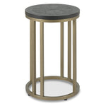 Bentley Designs Chevron Peppercorn Ash Side Table | Taylors on the High Street