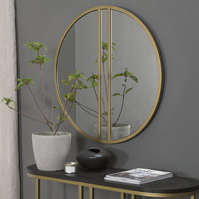 Bentley Designs Satin Brass Mirror | Taylors on the High Street