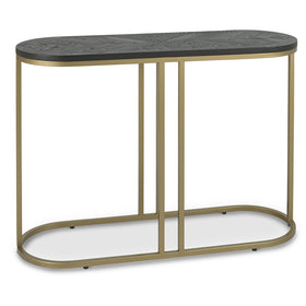 Bentley Designs Chevron Peppercorn Ash Console Table | Taylors on the High Street