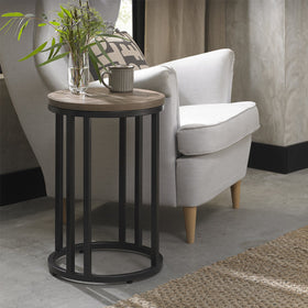 Bentley Designs Chevron Weathered Ash Side Table | Taylors on the High Street
