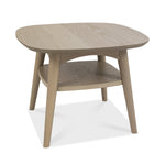 Bentley Designs Dansk Scandi Oak Lamp Table with Shelf | Taylors on the High Street