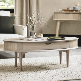 Bentley Designs Dansk Scandi Oak Coffee Table with Drawer | Taylors on the High Street