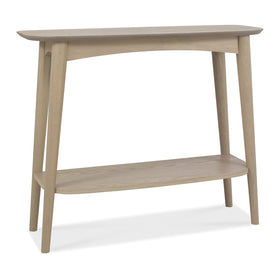 Bentley Designs Dansk Scandi Oak Console Table with Shelf | Taylors on the High Street