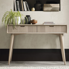 Bentley Designs Dansk Scandi Oak Console Table with Drawers | Taylors on the High Street