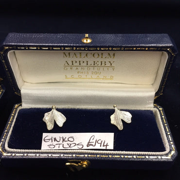 Malcolm Appleby Gingko Stud Earrings (Pair)