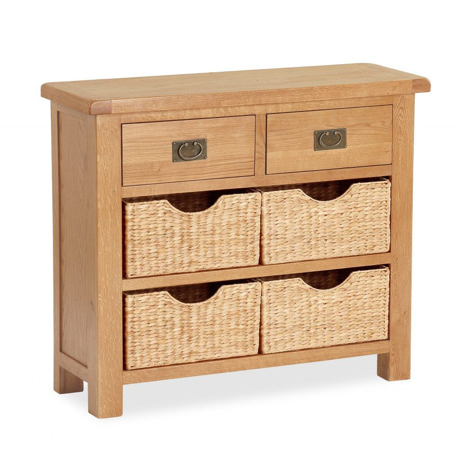 Salisbury Oak Small Sideboard With Baskets