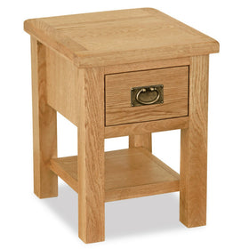 Salisbury Lite Oak Lamp Table with Drawer