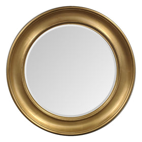 Gold Effect Curve Framed Mirror