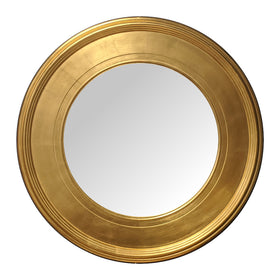 Elegant Gold Effect Round Mirror