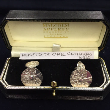 Malcolm Appleby Hearts Of Oak Cufflinks (Pair)