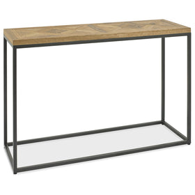 Bentley Designs Indus Rustic Oak Console Table | Taylors on the High Street