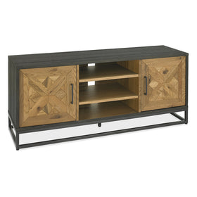 Bentley Designs Indus Rustic Oak & Peppercorn Entertainment Unit | Taylors on the High Street