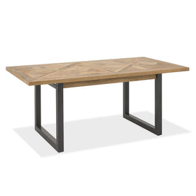 Bentley Designs Indus Rustic Oak 6-8 Dining Table | Taylors on the High Street