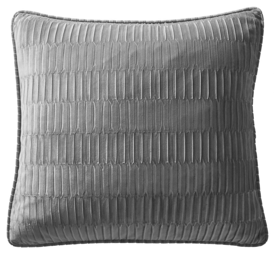 Karen Millen Charcoal Velvet Pleat Square Cushion