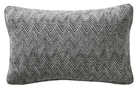 Karen Millen Chevron Boudoir Cushion Black/White