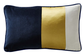 Karen Millen Colour Block Boudoir Cushion Midnight