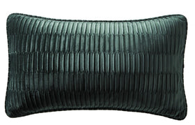 Karen Millen Emerald Velvet Pleat Boudoir Cushion