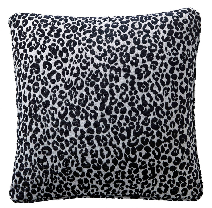 Karen Millen Leopard Chenille Square Cushion Midnight/Dove