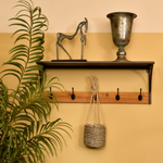 Libra Kempsey Fir Wood And Iron Coat Hook | Taylors on the High Street