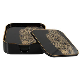 Mindy Brownes Leopard Coaster Set | Taylors on the High Street