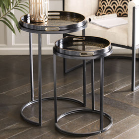 The Libra Company Coral Design Set of Nesting Side Tables | Taylors on the High Street
