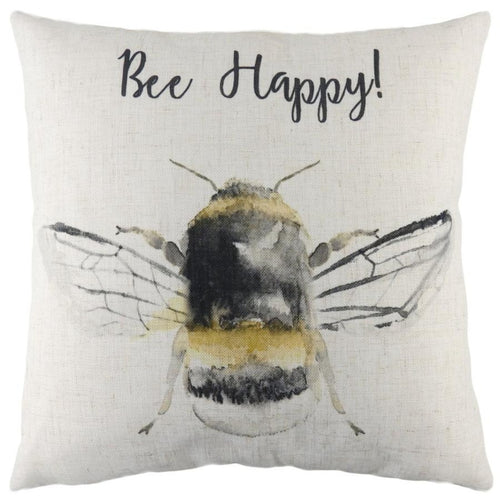 Evans Lichfield Bee Happy Cushion | Taylors on the High Street