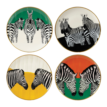 Mindy Brownes Zebra Plates Set | Taylors on the High Street
