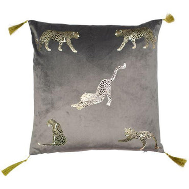 Malini Feline Grey Cushion | Taylors on the High Street