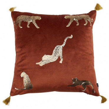 Malini Feline Rust Cushion | Taylors on the High Street