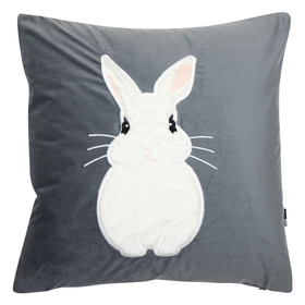 Malini Grey Bunny Cushion | Taylors on the High Street