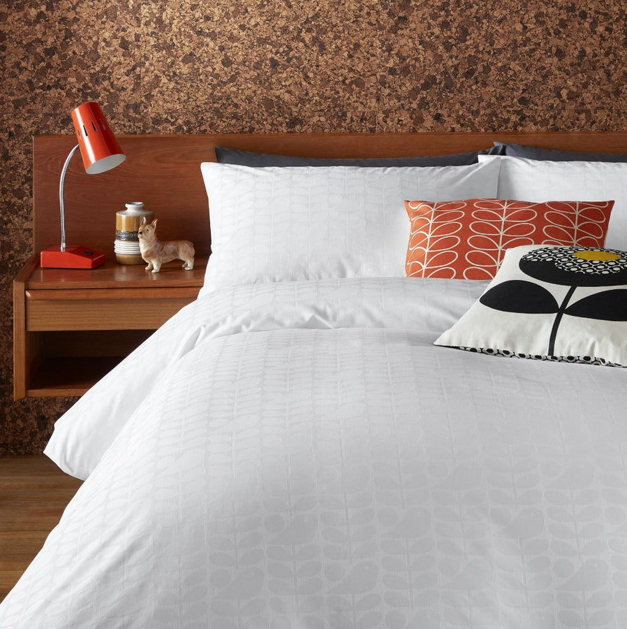 Orla Kiely Ditsy Early Bird White Duvet Cover Double