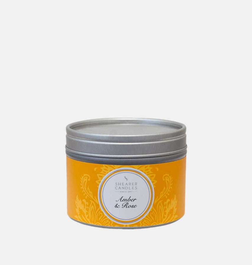 Amber & Rose Candle Small Tin