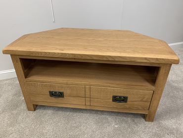 Global Home Salisbury Lite Oak Corner TV Unit | Taylors on the High Street