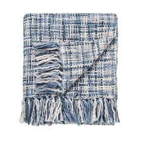Scion Usuko Knitted Throw Blue 130x180cm
