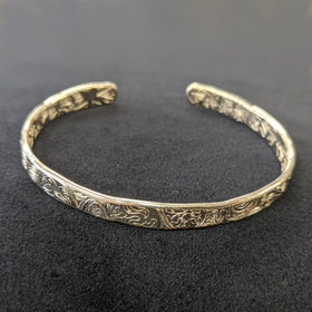 Malcolm Appleby Sterling Silver Animals Open Bangle