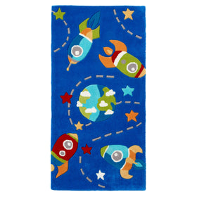 Think Rugs Kids Rocket Rug | Taylors on the High Street