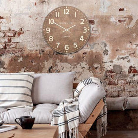 Wharf Leather Oversized Wall Clock