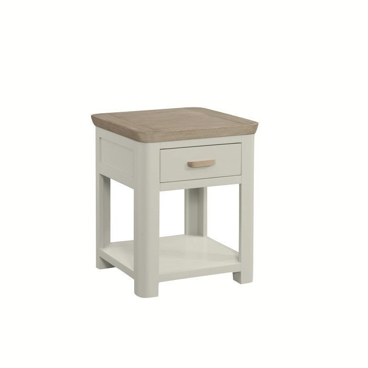 Darrach Painted Lamp Table with Drawer