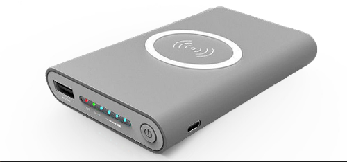 Power Bank with USB + Qi Wireless Charging (6,000mAh)