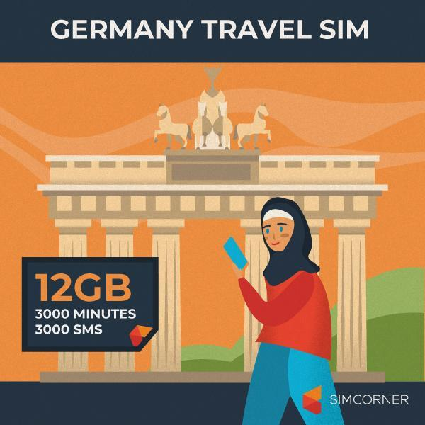 Germany Travel Sim Card (12GB)