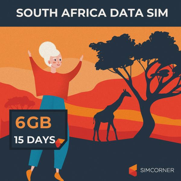 South Africa Data SIM Card (15 Day - 6GB)
