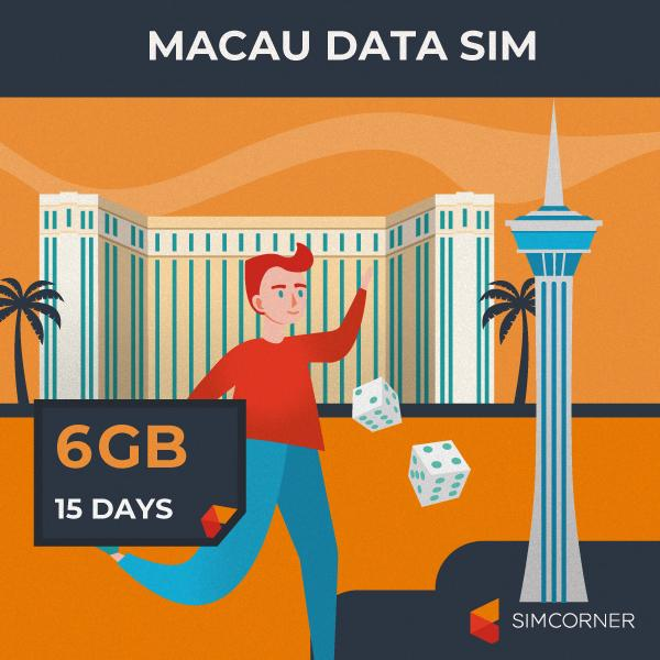 Macau Data SIM Card (15 Day - 6GB)