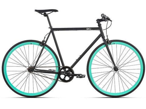 6KU Fixie / Single speed bike Beach Bum musta