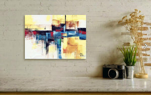 Abstract-15 - Original Handmade Watercolor Abstract Painting For Sale Shown In Living Room-NeneArts.jpg