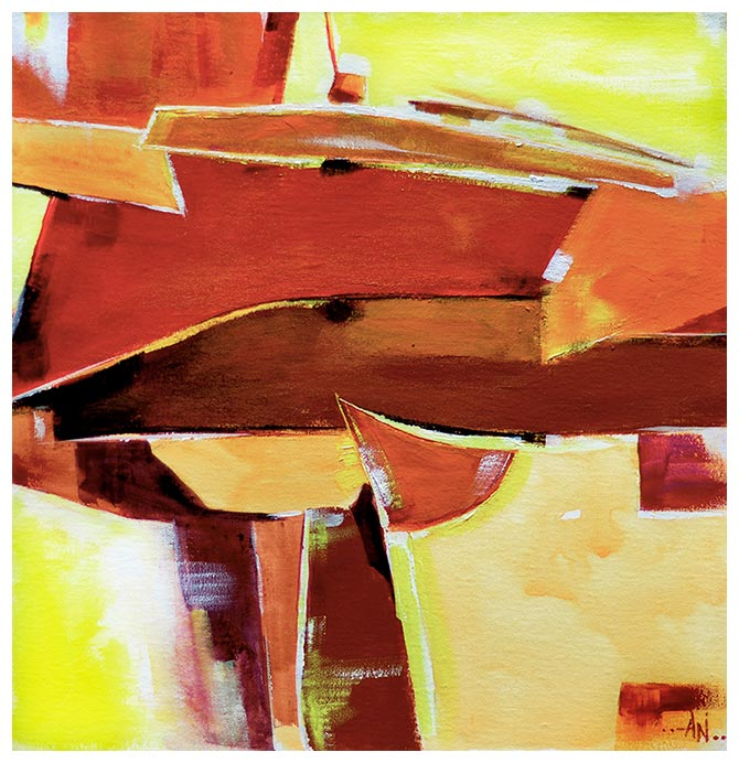 Abstract 1 - Acrylic Painting On Canvas For Sale Online - NeneArts